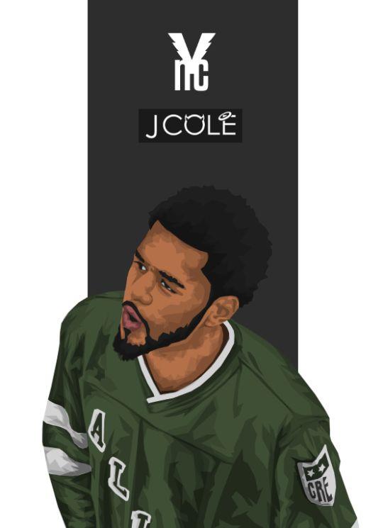 J Cole Drawing Wallpaper