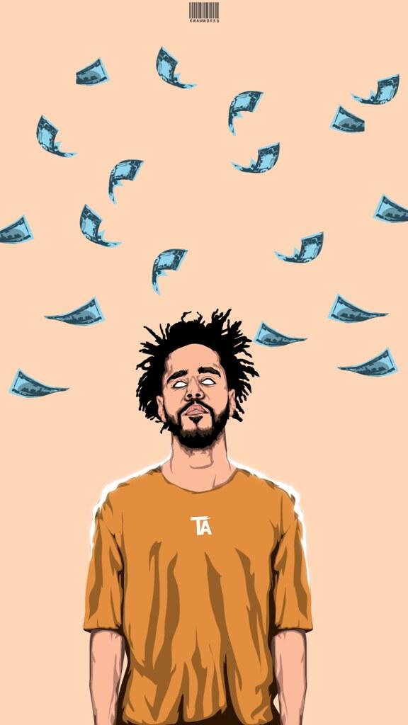 J Cole Money Wallpaper