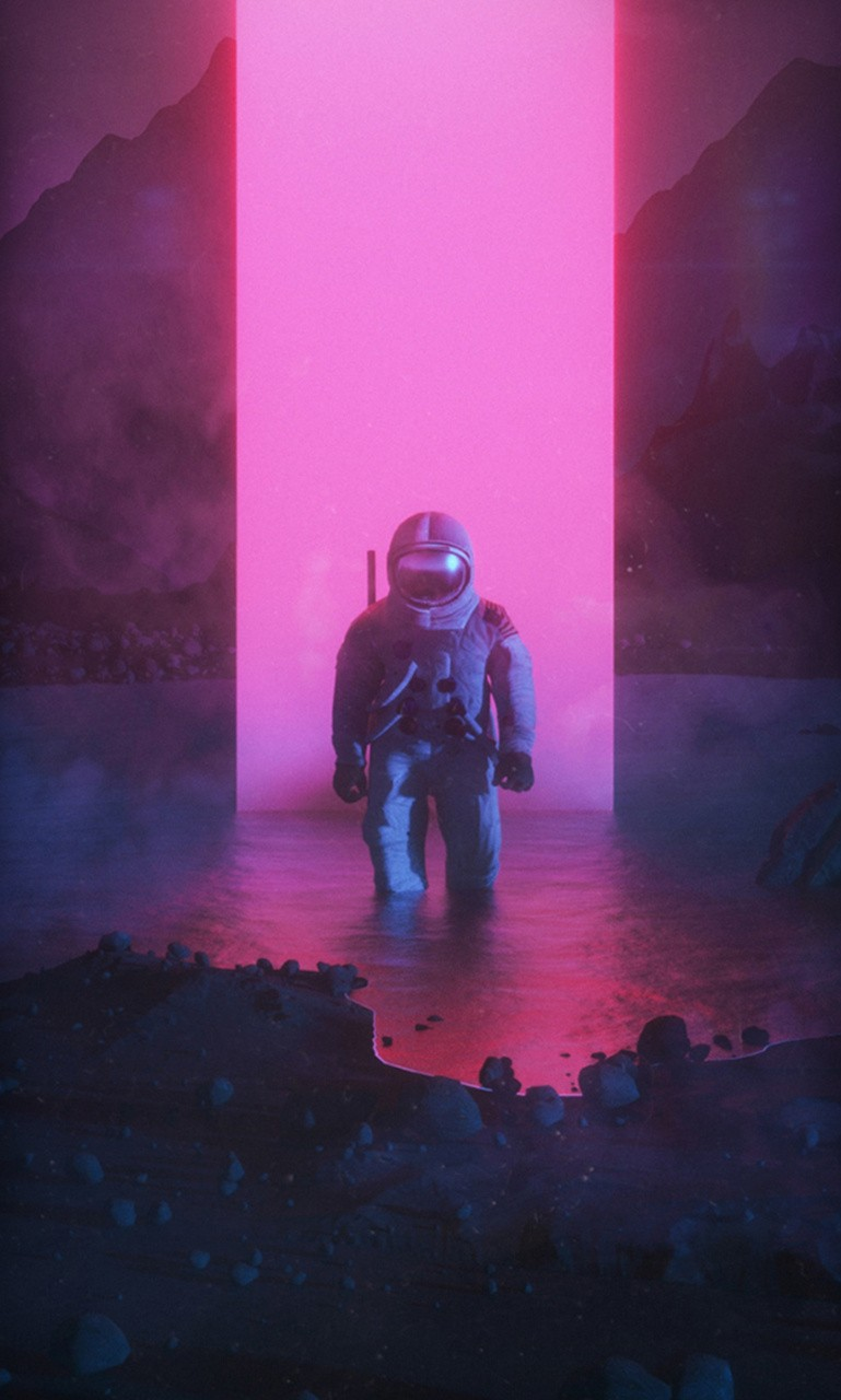 Vaporwave Astronaut Wallpapers Kolpaper Awesome Free Hd Wallpapers