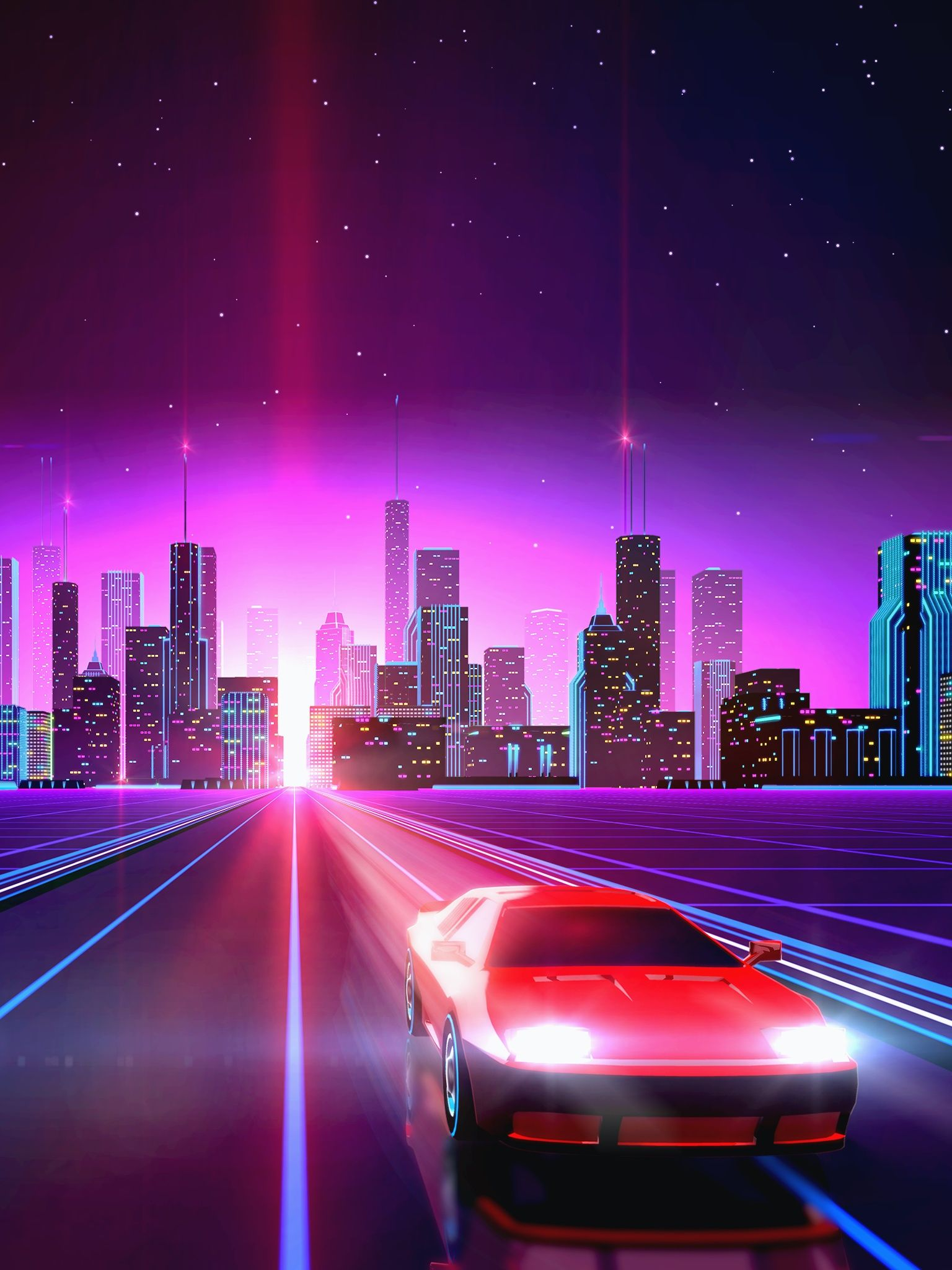 Vaporwave City Wallpaper