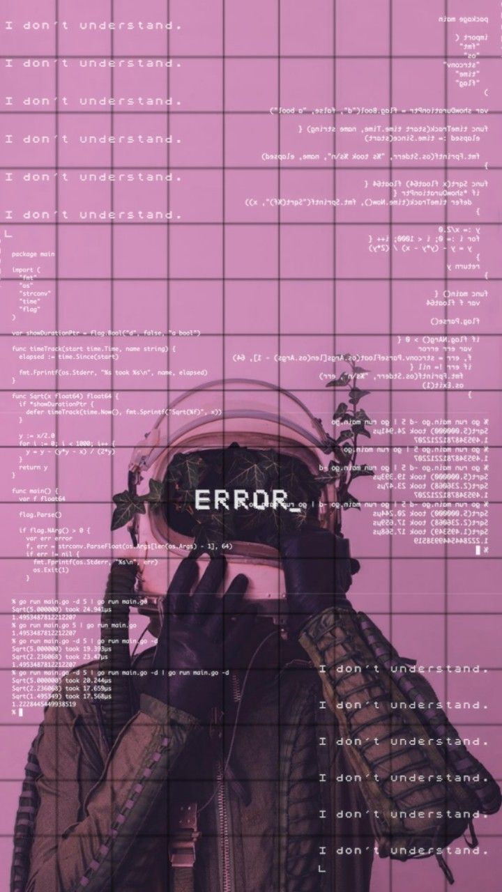 Vaporwave Error Wallpaper