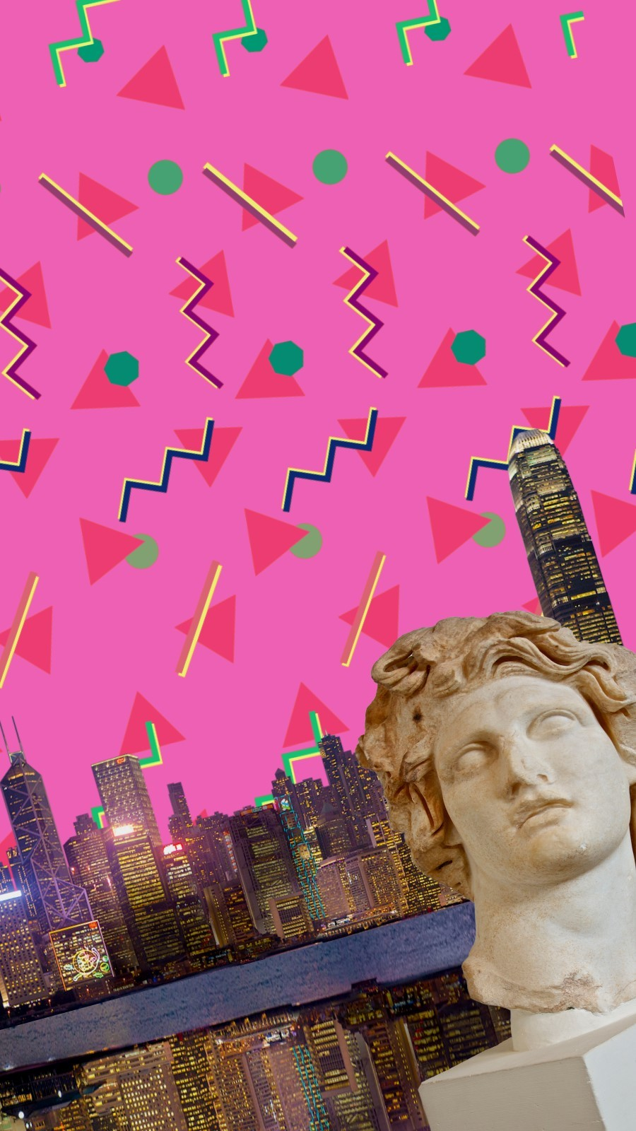 Vaporwave Pink Wallpaper