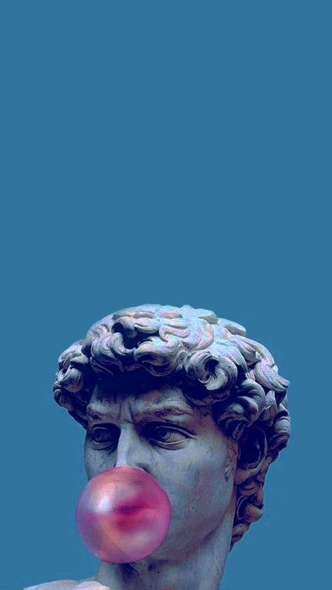 Vaporwave Sculpture Wallpaper