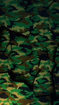 Green Camo Puzzle Wallpaper