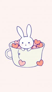 Kawaii Rabbit Wallpaper