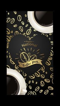 National Coffee Day Iphone Wallpaper