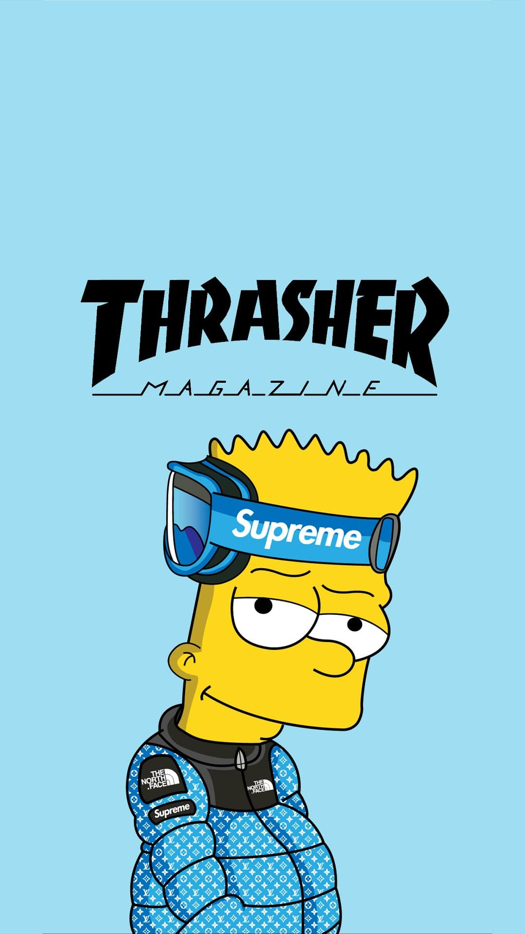 Supreme Bart Simpson Wallpaper