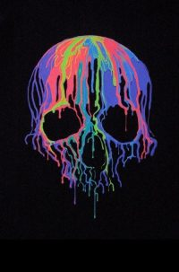 Drippy Skull Wallpaper