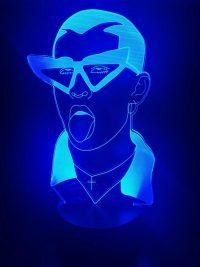 Bad Bunny Neon Wallpaper