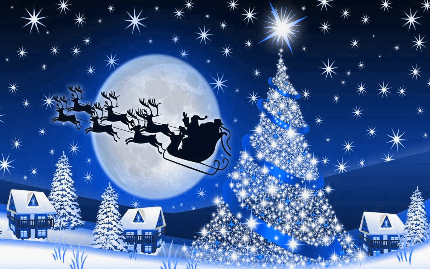 Christmas Night Wallpaper 1