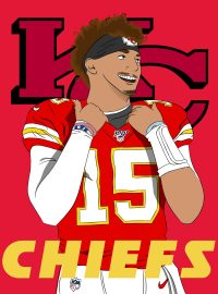 Patrick Mahomes Cartoon Wallpaper