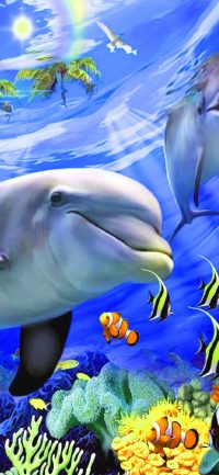 Underwater Dolphin Wallpaper 2
