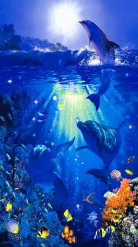 Underwater Dolphin Wallpaper