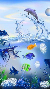 Underwater Dolphin Wallpaper 5