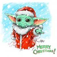 Christmas Baby Yoda Wallpaper 3