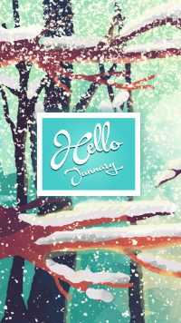 Wallpaper Hello January