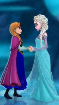 Anna and Elsa Wallpaper 2