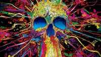 Skull Psychedelic Wallpaper PC
