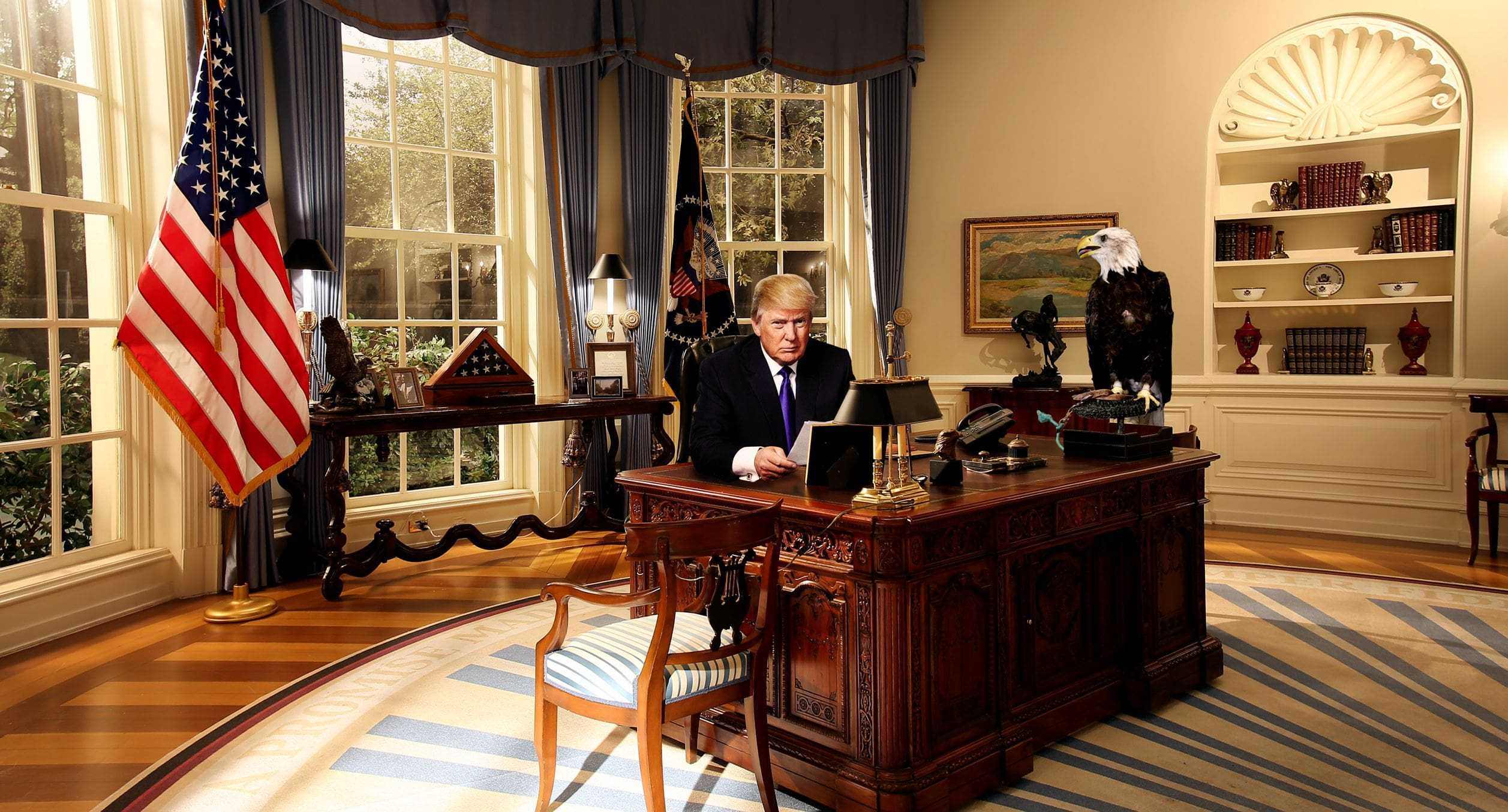 Trump Oval Office Wallpaper