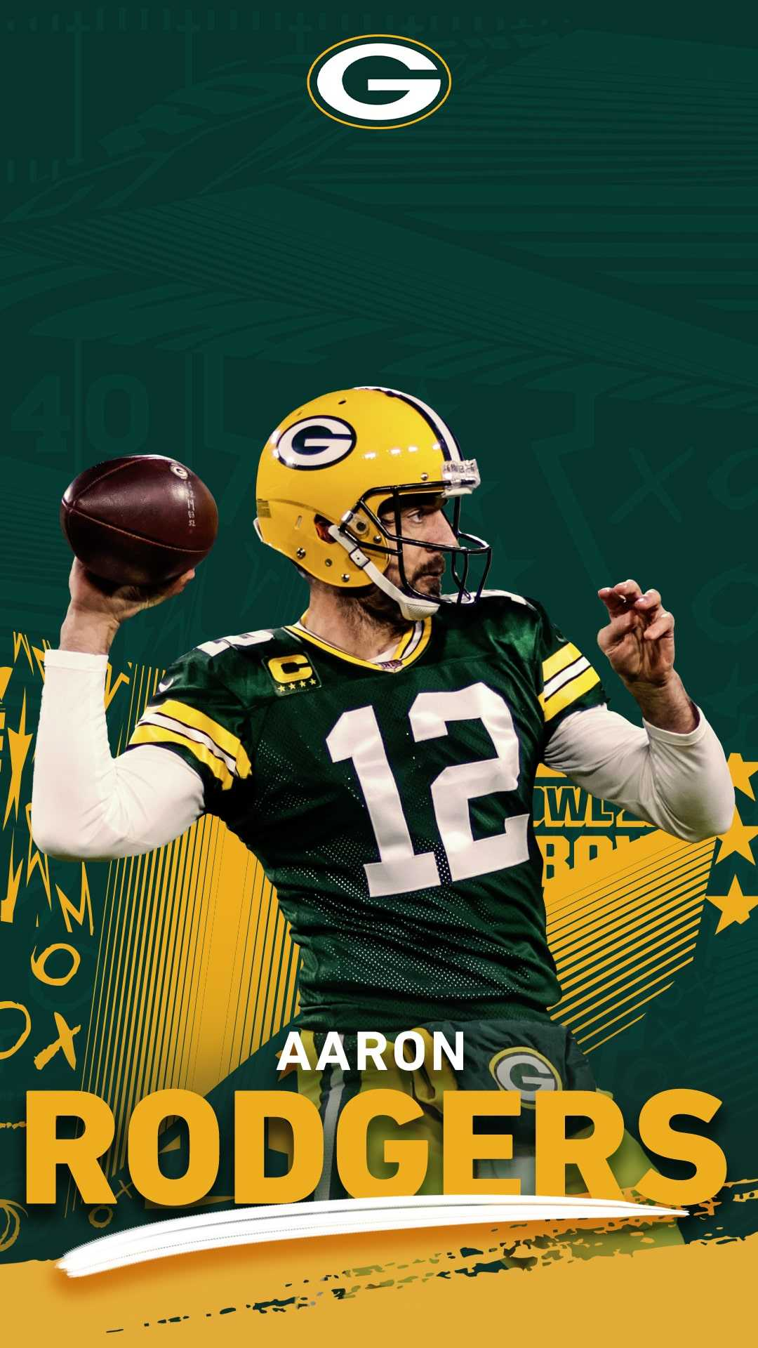 Wallpaper Aaron Rodgers