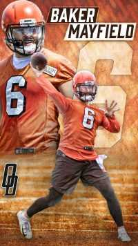 iPhone Baker Mayfield Wallpaper 2