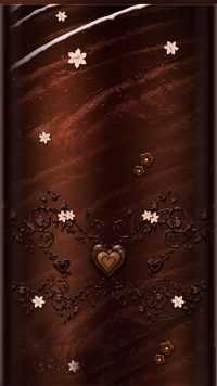 Aesthetic Brown Heart Wallpaper 7