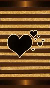 Black Brown Heart Wallpaper 4