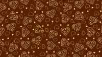 Brown Heart Aesthetic Wallpaper 1