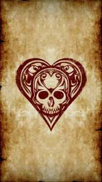 Skull Heart Wallpaper 2