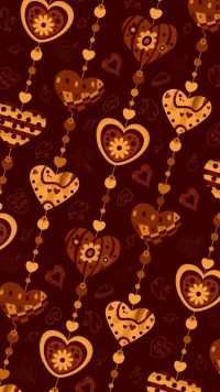 Wallpaper Brown Heart 2