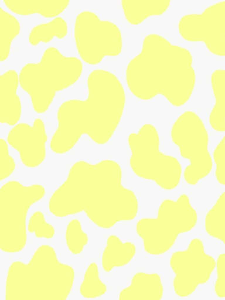 Yellow Cow Print Wallpaper 1